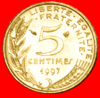 # CLOSE BEE: FRANCE ★ 5 CENTIMES 1997 MINT LUSTER! LOW START ★ NO RESERVE! Type (1966-2001) - C. 5 Centesimi