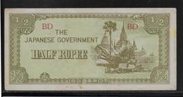 Japon - Japanese Governement - 1/2 Rupee - SUP - Japan