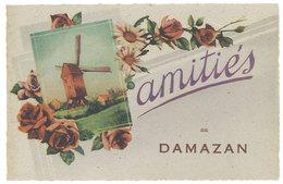 Cpa Fantaisie : Amitiés Bonjour De Damazan - France