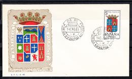 ESPAÑA 1965.SOBRE 1er. DIA FDC EDIFIL Nº 1561.ESCUDO DE PALENCIA  .MATASELLOS DE MADRID . CECI 3 Nº 197 - FDC