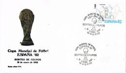 28984. Carta MADRID 1982. Copa Mundial FUTBOL 82, Sorteo Grupos - 1931-Hoy: 2ª República - ... Juan Carlos I