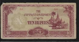 Japon - Japanese Governement - 10 Rupees - B - Japon