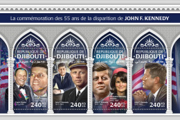 Djibouti 2018 55th Anniv John F Kennedy Usa Frank Sinatra Music Composer Jacqueline S/S DJB18306a - Francobolli