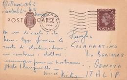 INGHILTERRA STORIA POSTALE CARTOLINA POSTALE  VIAGGIATA - Interi Postali