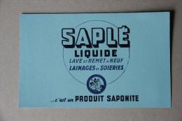 BUVARD Saplé Liquide, Lave Et Remet à Neuf Lainages Et Soieries, Produit Saponite - Wash & Clean