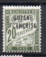 Guyane Taxe N° 4 Neuf * - Variété 'R De FRANCAISE Absent Dans La Surcharge' - Neufs