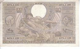 100 Frans - 20 Belgas - N° 60c - [ 2] 1831-... : Belgian Kingdom