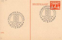 1939  Gelegenheidsstempel Amsterdam  Dag Van De Postzegel Op Bk - Poststempel