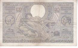 100 Frans - 20 Belgas - N° 60d - [ 2] 1831-... : Belgian Kingdom