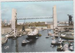 Finistère  : BREST :  Vue  Le Pont  De  Recouvrance  Sur La  Penfeld  , Bateau - Brest