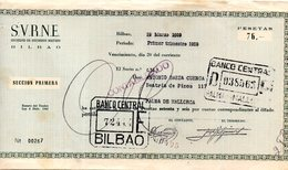 Papel De Banco  De 1959. - España