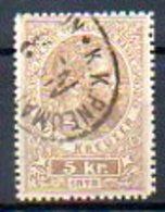 AUTRICHE - (Empire) - 1873 - Timbre Télégraphe - N° 1 -  5 K. Olive-brun - (Effigie De François-Joseph 1er) - Télégraphe