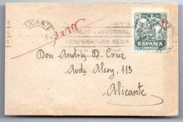 Carta Pequeña  Con Matasellos De 1958 Alicante. - 1931-Heute: 2. Rep. - ... Juan Carlos I