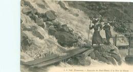 Cpa -     Chamonix -  Cascade De Nant Blanc à La Mer De Glace ,animée         J1042 - Chamonix-Mont-Blanc