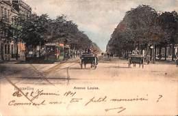 Bruxelles - Avenue Louise (top Animation, Tram Tramway Colorisée 1901) - Elsene - Ixelles