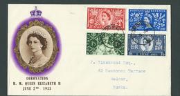 2nd. JUNE 1953. COVER . CORONATION H M QUEEN  ELIZABETH II - 1952-.... (Elizabeth II)
