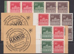 """Mi-Nr. MHBl. 13, MH6a,7a""""Brandenburger Tor"""", 3 Versch. MH Bzw. MHBl., ** - Zusammendrucke"""