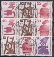 """Mi-Nr. W 53/4, W57, """"Unfall"""", 2 Versch. 3er Streifen Aus MHBl 17 - Berlin (West)"""