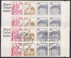 """Mi-Nr. MH 10aII, """"Bus"""", MH 1977 In Beiden Varianten, ** - Zusammendrucke"""