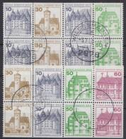 """Mi-Nr. MHBl 19, 20, """"BuS"""", 2 Versch. MH-Blätter, O - Berlin (West)"""