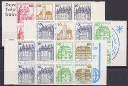 """Mi-Nr. MH 10,11,13, """"BuS"""", 3 Versch. Markenheftchen, ** - Berlin (West)"""