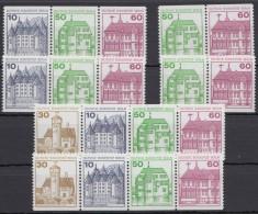 Mi-Nr. W 75/8, Alle 4 ZD Und 2x 4er Streifen Aus MHBl 20, ** - Berlin (West)