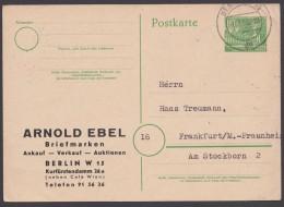"""Mi-Nr. P5b, Zudruck """"Ebel, Berlin"""", Bedarf, 8.7.53, O - Berlin (West)"""
