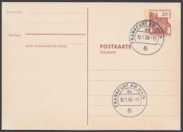 """Mi-Nr. P65, Versandstellenstempel """"Frankfurt"""", 10.1.66 - Postkarten - Gebraucht"""