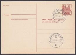 """Mi-Nr. P67, Kplt. Doppelkarte, Versandstellenstempel """"Frankfurt"""", 10.1.66, O - Berlin (West)"""