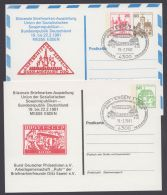 """Mi-Nr. PP 82 D2/04, 98 D2/02, """"Zeppelin-Rußlandfahrt 1930"""", 2 Versch. Gedenkkarten 1981, Je Pass. Sst. , O - Berlin (West)"""