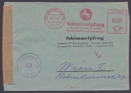Brief Mit Absenderfreistempel, 1952 Nach Österreich Mit Zensur - Briefe U. Dokumente