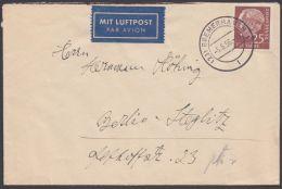 "Mi-Nr. 185, Saubere EF ""Bremerhaven"", 5.5.56, Per Luftpost Nach Berlin - BRD"