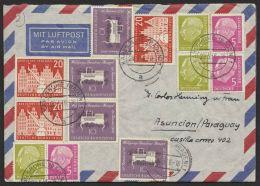 "Mi-Nr. 230 U.a. , Dek. MiF. Auf Luftpost Nach Paraquay ""Karlsruhe"", 20.5.56 - BRD"