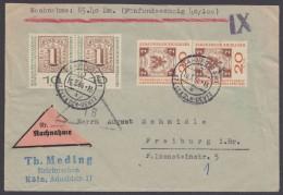 Mi-Nr. 310/1b, MiF, Je Im Paar Auf NN-Brief - BRD