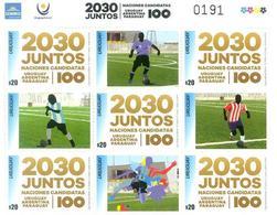 """Uruguay 2018 ** MP Canditatos A Organizar El Campenato Mundial De Fútbol """"Centenario URUGUAY 1930"""". - Coupe Du Monde"""