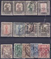 COLONIE ITALIANE LIBIA 1924-29 Pittorica Dent.14 Senza Filigrana 9v + Sibilla Serie - Libye