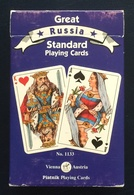 Great Russia Playing Cards, Piatnik, Austria, Blue, 55 Cards, New, Sealed - Playing Cards (classic)
