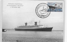CM Voyage Inaugural Du Paquebot France 3-2-1962 - 1960-69
