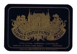 """Etiquette Vin   Chateau Palmer  Margaux  """" Médoc"""" 1955 - Bordeaux"""