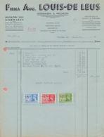 1941: Factuur Van ## Firma Aug. LOUIS-DE LEUS, IJzerenleen, 6, Mechelen ## Aan ## Firma GULDERS & VAN VAECK, ... - Belgium