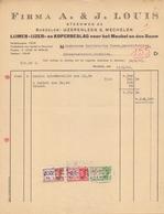 1943: Factuur Van ## Firma A. & J. LOUIS, Steenweg, 32/IJzerenleen, 6, Mechelen ## Aan ## Firma GULDERS & VAN VAECK, ... - Belgium