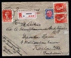 A5532) Niederlande Netherlands R-Brief Arnhem 23.11.23 N. Koeln / Germany - 1891-1948 (Wilhelmine)
