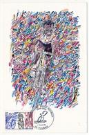 """FRANCE - Carte Maximum - Cachet Temporaire """"Centenaire Paris Roubaix"""" 59 ROUBAIX - 14 Avril 1996 - 1990-99"""