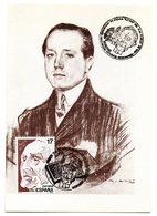 Tarjeta Con Matasellos Commemorativo Exposicion Filatelica Azorin. 1986 - 1931-Heute: 2. Rep. - ... Juan Carlos I