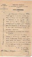 VP12.267 - 1897 - Lettre De La Direction Générale De ....des Domaines & Du Timbre à SAINT - LO - Manuscripts