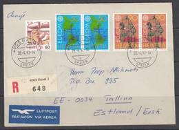 Einschreibenbrief 1992 Helvetia- Estland. - Suisse