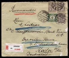 A5533) Niederlande Netherlands R-Brief Arnhem 17.5.23 N. Koeln / Germany - 1891-1948 (Wilhelmine)