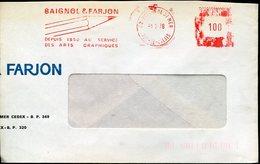 34842 France, Red Meter/freistempel/ema/ Boulogne Sur Mer, Baignol & Farjon - Postmark Collection (Covers)