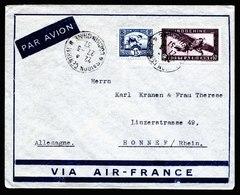 A5534) Indochina Brief Saigon 27.3.37 N. Honnef / Germany - Indochina (1889-1945)