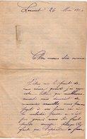 VP12.268 - 1904 - Lettre De Mr PERONNACY ? à LORIENT ( Récit ) - Manuscripts